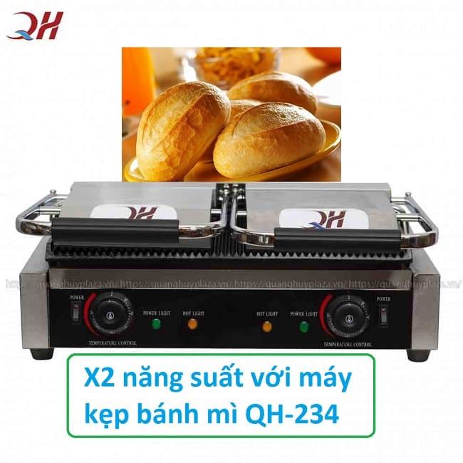 Máy Ép Bánh Mì Đôi QH - 234